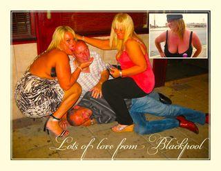 Blackpool postcard x