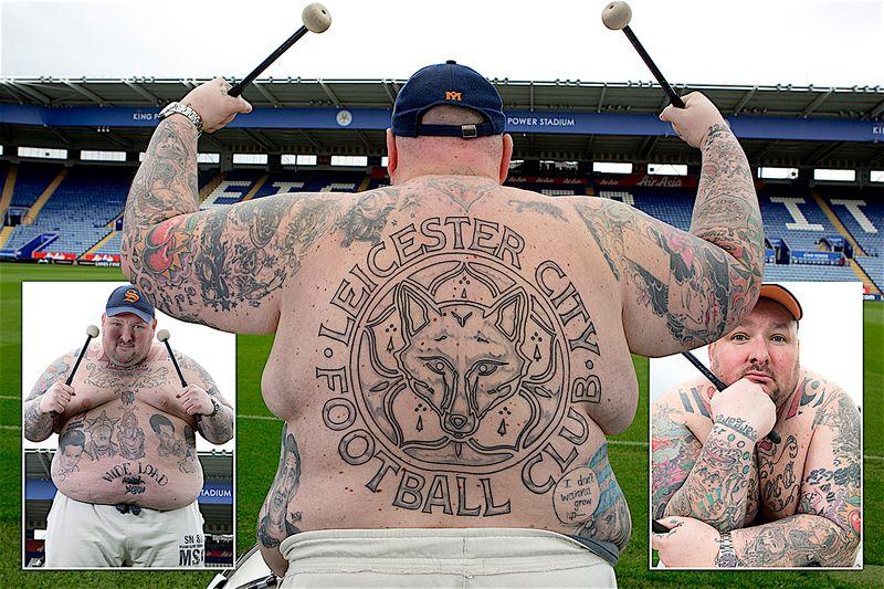 Leicester tattooed fan