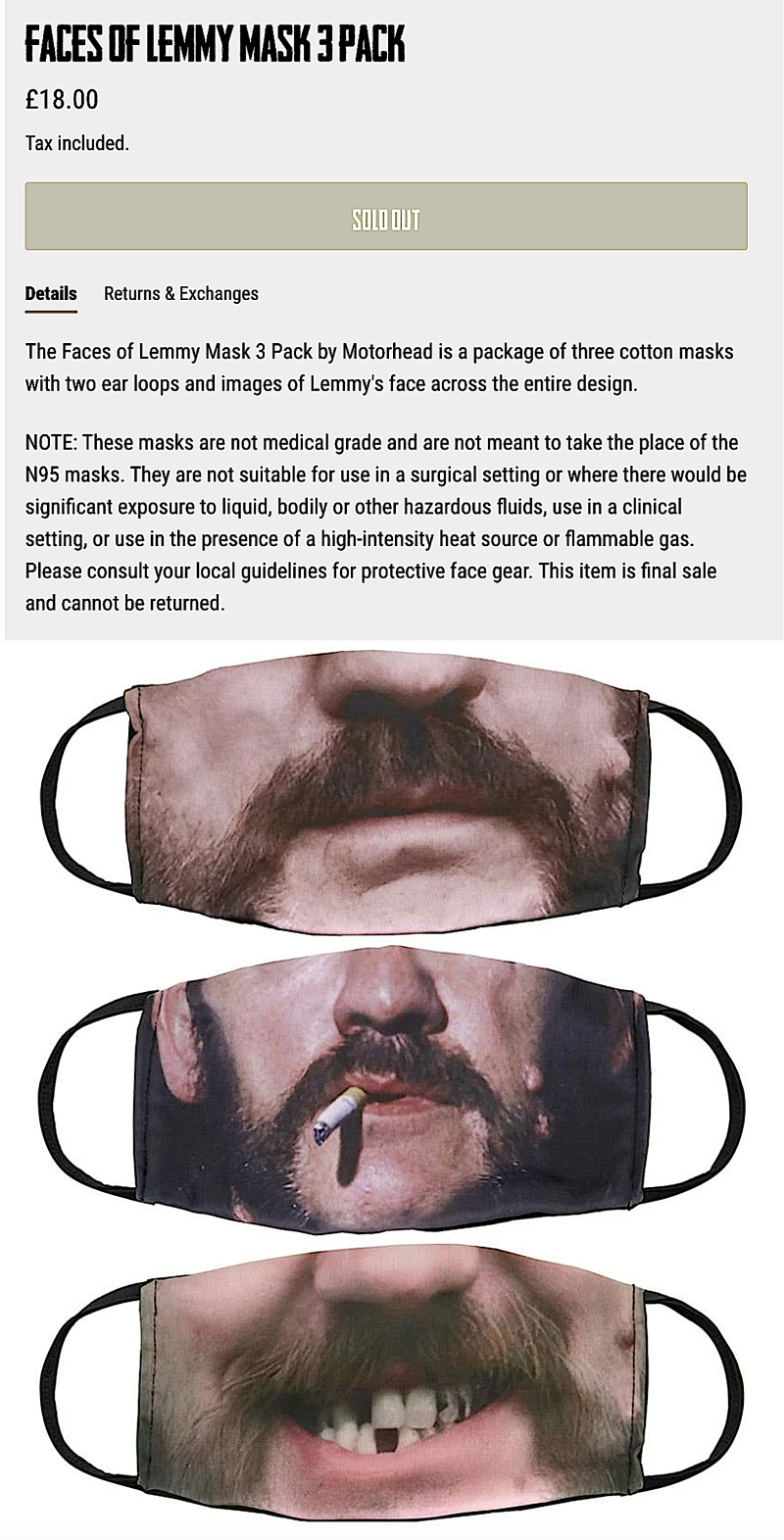 Lemmy masks